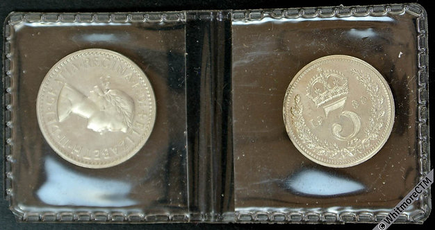 1980 Elizabeth II  Maundy Set - Distributed at Worcester