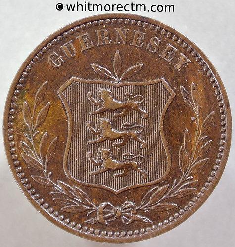 1885 Guernsey 8 Doubles 1885H E43