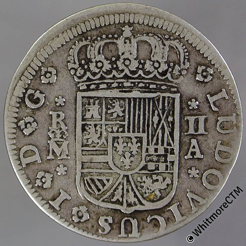 1724 Spain 2 Reales Madrid - Louis I