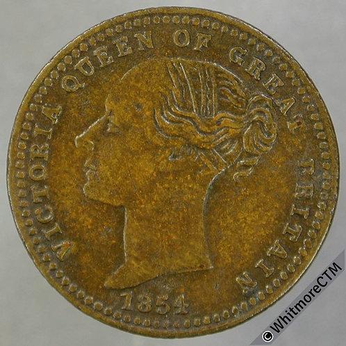 1856 Treaty of Paris Medal 19mm Victoria 1854 Napoleon III 1856. B2584  Brass