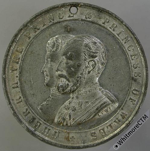 Worcester 1884 Visit of Prince & Princess of Wales Medal 39mm WE1486 By Lewis WM