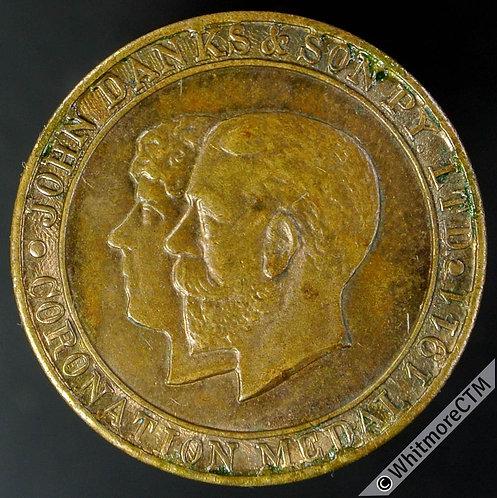 Australia Sydney 1911 WE5350 John Danks & Son plumbers token 23mm Gilt Bronze