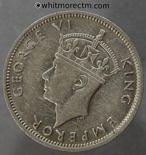 1944 Southern Rhodesia Shilling coin Y19