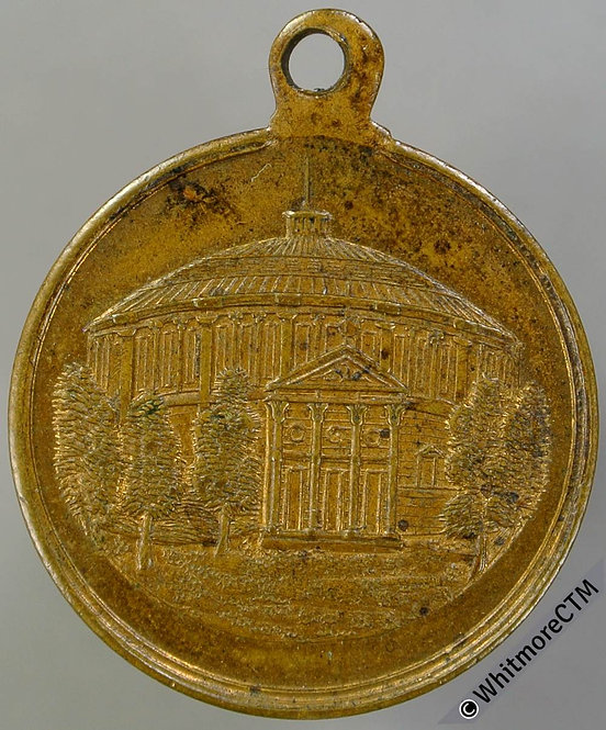 France Paris (1880) Panorama Champ-Eylsees Medal 23mm Gilt bronze with suspender