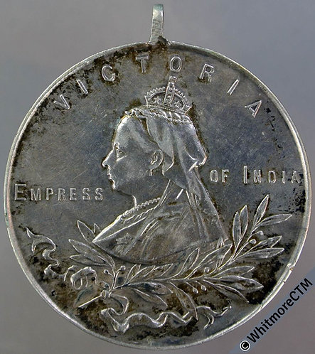 1901 Death of Queen Victoria Medal 34mm WE1952 Army Temperance Assoc - Silver