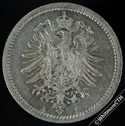 1876 Germany Empire 50 pfennig 1876A Y13