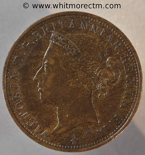 1887H Jersey One Twelfth of a Shilling coin obv