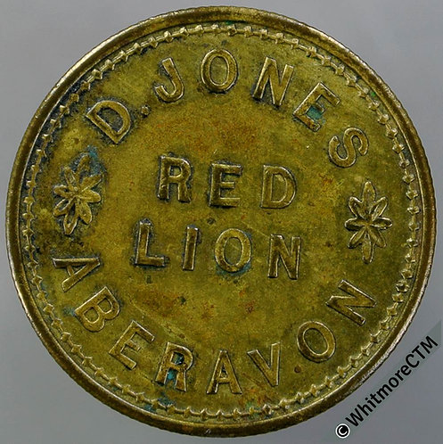 Aberavon Inn / Pub Token C136 3d D.Jones Red Lion.  By Durning Birm.  (DUR5­6)