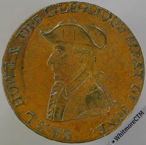 18th Century Halfpenny Emsworth 20a 1794 Earl Howe King & Constitution