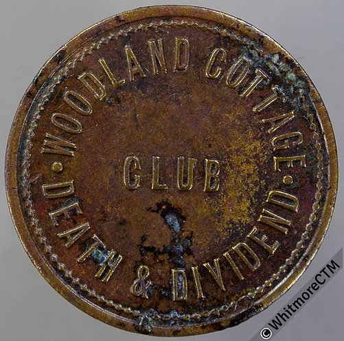 Redditch Inn / Pub Token W4320 Woodland Cottage death & Dividend Club / 3D