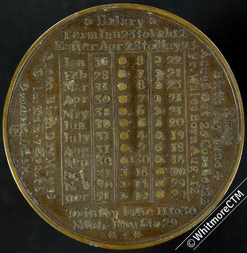 Calendar 1773 By John Powell Birmingham 39mm - Brass