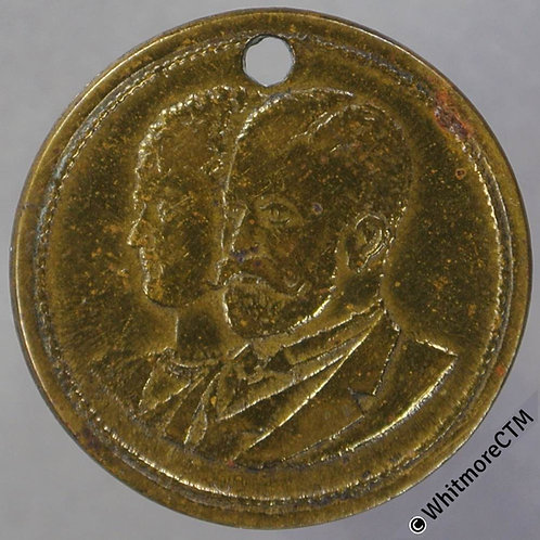 Australia 1901 C48 Federated Australia Medal 20mm Duke & Duchess of York. Brass