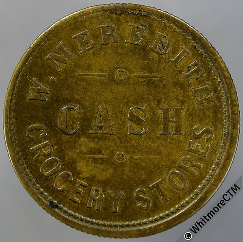 Tarrington Hereford Value Stated Token 26mm W.Meredith Cash Grocery Stores 3D