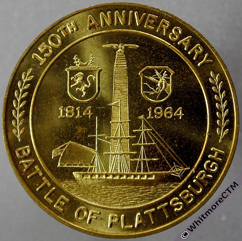 1964 USA Plattsburgh (N.Y.) 150th Anniversary of Battle Token obv 34mm Good for 50c