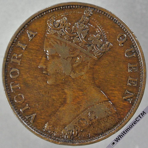 1865 Hong Kong 1 Cent Y1 obv