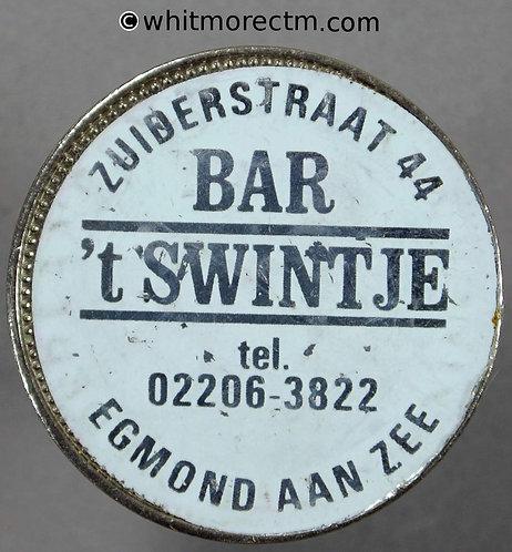 Netherlands Token Egmond aan Zee 29mm plastic label on 1971 2½ Gulden Coin