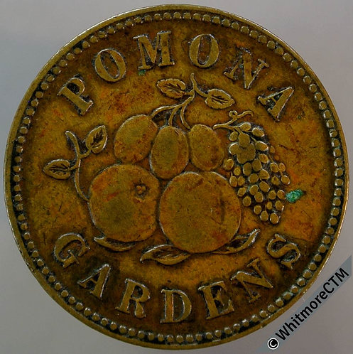 Ticket Pass Token Hulme 60/121 W & J Beardsley Pomona Gardens 25mm Bronze