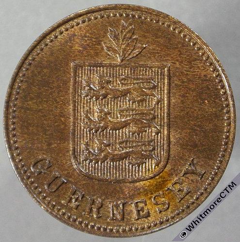 1918H Guernsey 2 Doubles E81 obv