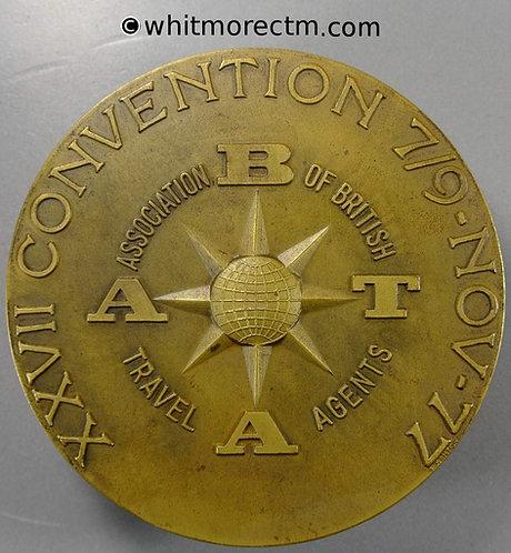 1977 Portugal / Britain ABTA Convention Medal 78mm View of Lisbon & River
