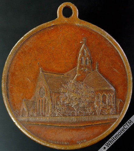 1912 Leicester St. Andrews Church 50th Anniversary Medal 32mm By Vaughton Bronze