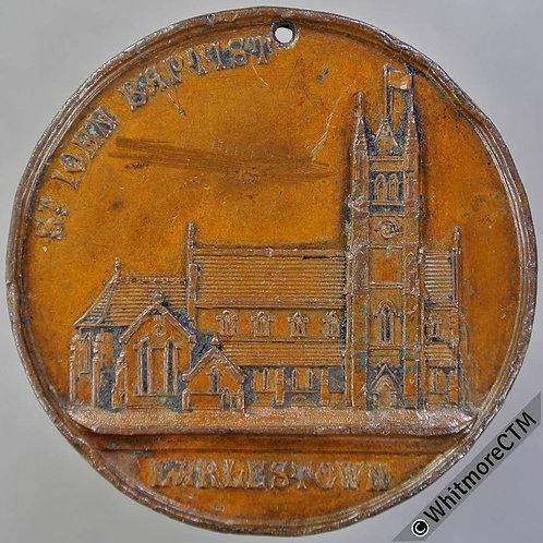 Earlestown Lancs St John Baptist Church Medal 38mm Bronze, Not in Taylor