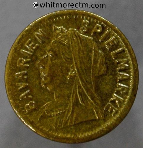 Toy Coin. Balmberger Victoria Veiled Head Half Sovereign 1897 630 13mm - Gilt