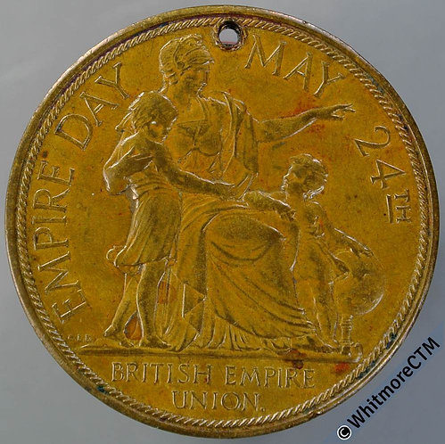 1929 Empire Day Medal 33mm Edward as Prince of Wales WE6228B Gilt Bronze