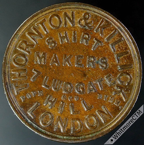 Unofficial Farthing London 2920 Thornton & Killick, Shirt makers, T. Pope & Co