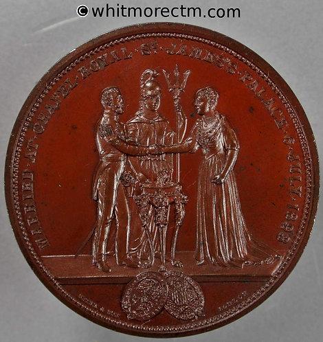 1893 Marriage of Duke of York & Princess Mary Medal 51mm B3446