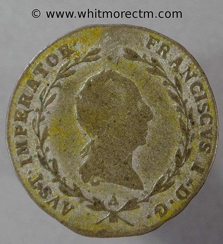 1823 Austria C181a 5 Kreuzer obv -1823A