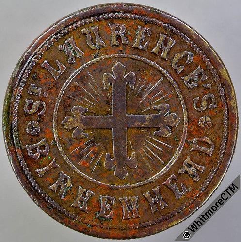 Birkenhead St.Laurence's Misc Token 29mm Rayed cross / Gridiron pattern. Bronze.