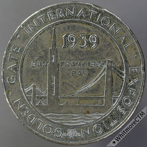 1939 USA San Francisco Treasure Island Golden Gate Exposition Medal 33mm W.M