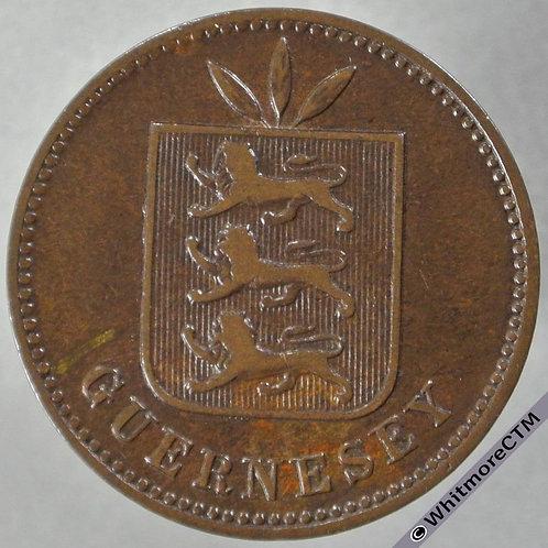 1906H Guernsey 4 Doubles E66 - obv