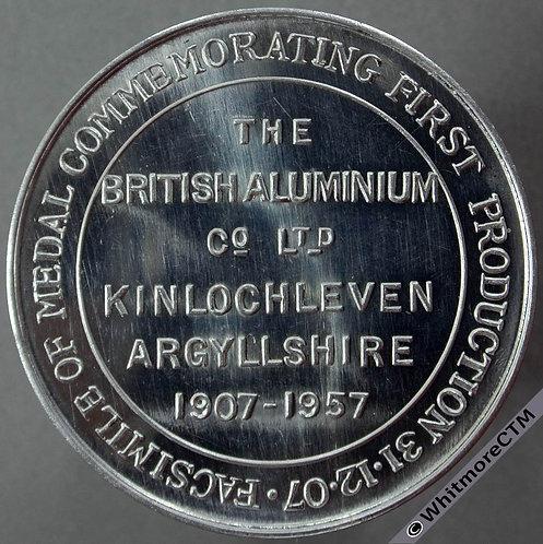 Kinlochleven (Argyll) 1957 Facsimile of Medal 31.12.07 38mm Aluminium