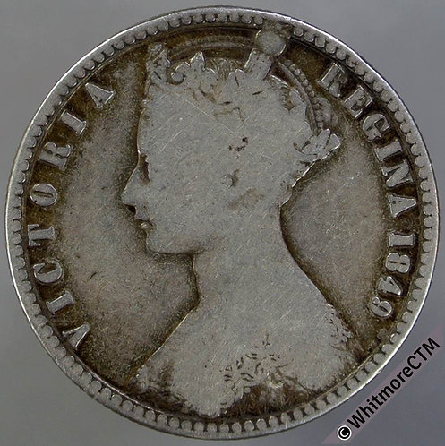 1849 British Victoria Godless Florin 2/-