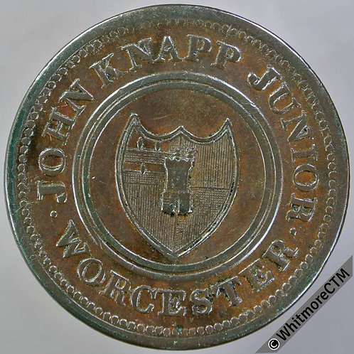 19th Century Halfpenny Worcester 1280 1813 John Knapp Junior To facilitate trade