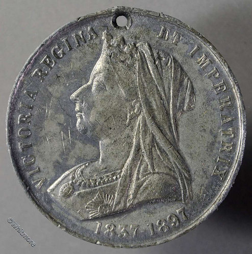 1897 Jubilee Medal 39mm Not recorded in W.M. & obv Die differs to WE3156A
