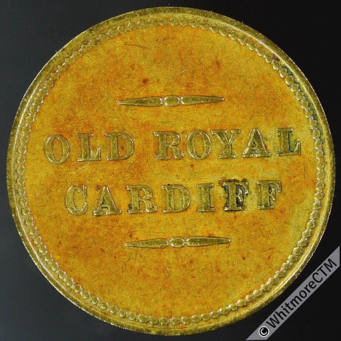 Cardiff Old Royal George Burns. Not in Whitmore but see Cox 344 Gilt Bronze