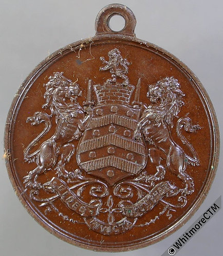1906 Gloucester Education Authority School Medal 25mm D745 Bronze with suspender