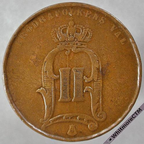 1875 Sweden 5 Öre obv