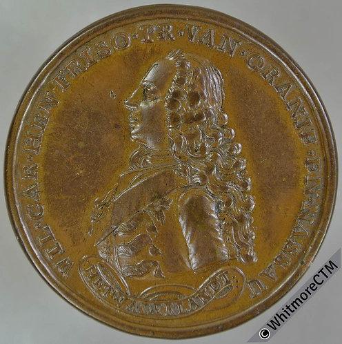 Netherlands (1747) William IV appointed Stadtholder Medal 41mm Bronze