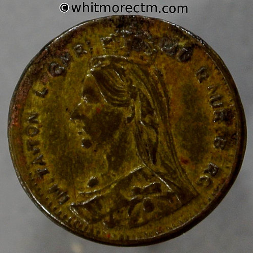 Toy Coin. False Lauer Jubilee Head Farthing 545 13mm - Brass