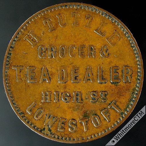Unofficial Farthing Lowestoft 3120 H Tuttle - Grocer & Tea Dealer High St.