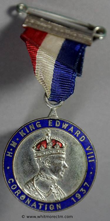 1937 Intended Coronation Medal obv 24mm Edward VIII WE6740A1 Silvered bronze