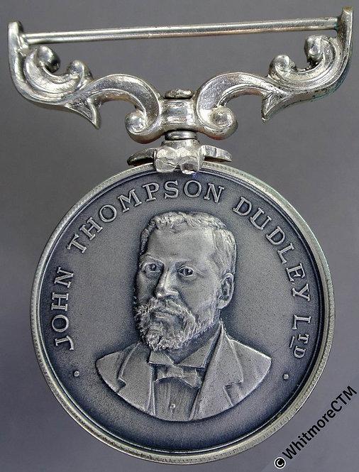 Dudley 1935 John Thompson Dudley Ltd Medal 32mm Silver, elaborate swivel susp