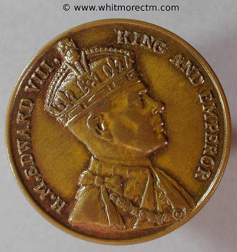 1937 Intended Coronation Medal obv Edward VIII 25mm WE6570L Uniface