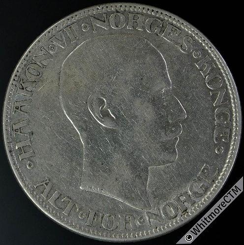 1914 Norway 2 Kroner Y42 - Silver