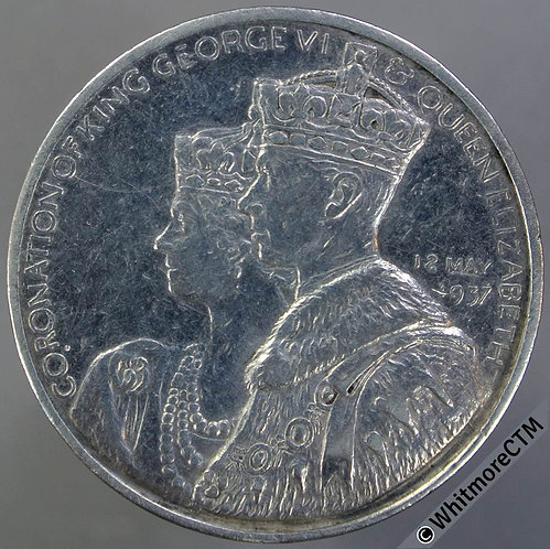 Coronation of George VI Medal 32mm B4363 National Maritime Museum - silver