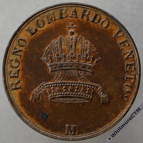 1839 Italian States Lombardy - Venetia 3 Centesimi 1839M C13