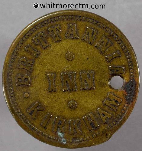 Pub / Inn Token Kirkham Lancashire 24mm Britannia Inn